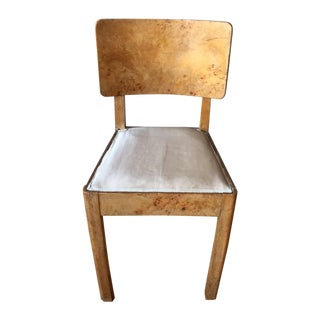 Vintage Burl Maple Italian Art Deco Chair