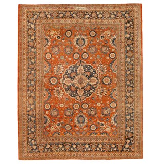 Exceptional Extremely Finely Woven Antique 19th Century Persian Tabriz Carpet