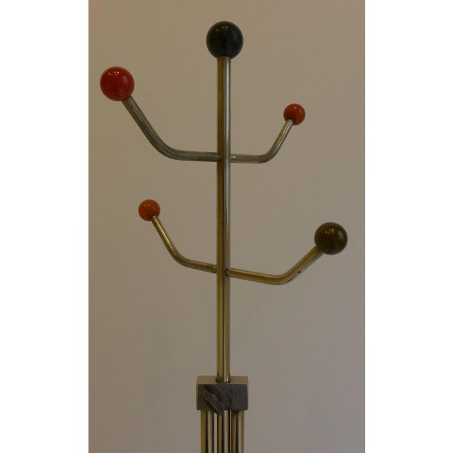 Slender Machine Age Hat Rack or Coat Rack - Image 5 of 10
