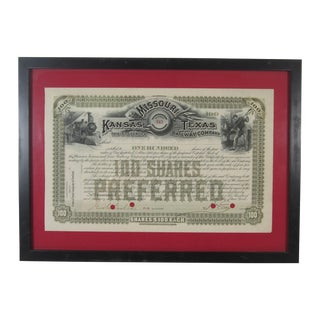 Texas Railroad Stock Certificate