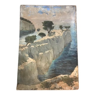 French Impressionistic Calanques Landscape Painting