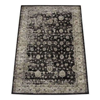 "Vintage Style Distressed Brown Rug- 6'7"" x 9'8"""