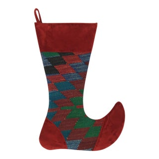 Large Kilim Christmas Stocking | Angel