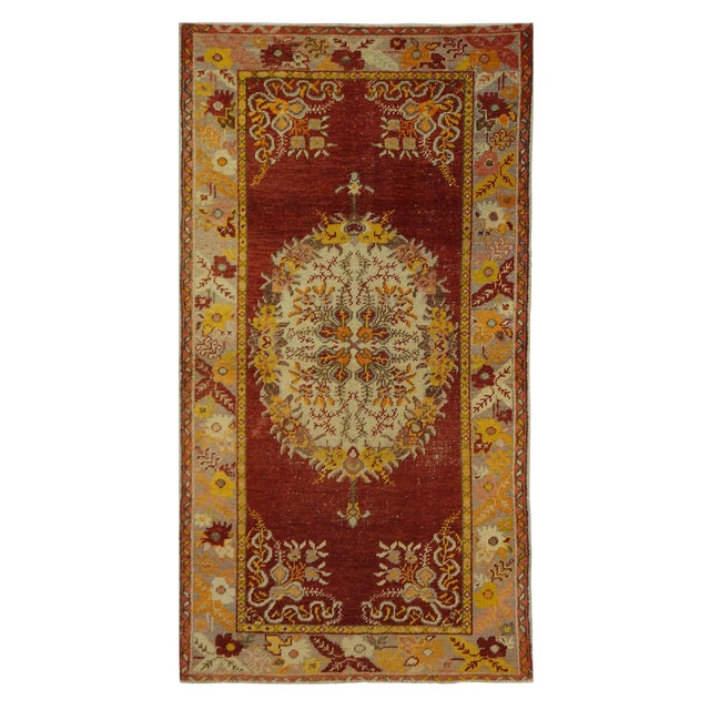 Vintage Turkish Oushak Rug - 3′2″ × 5′10″ - Image 1 of 4
