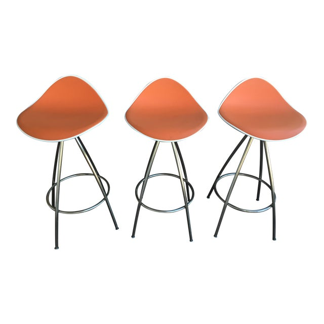 Onda counter stools set of 3 chairish - Onda counter stool ...