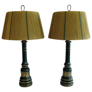 American Glass Table Lamps -A Pair