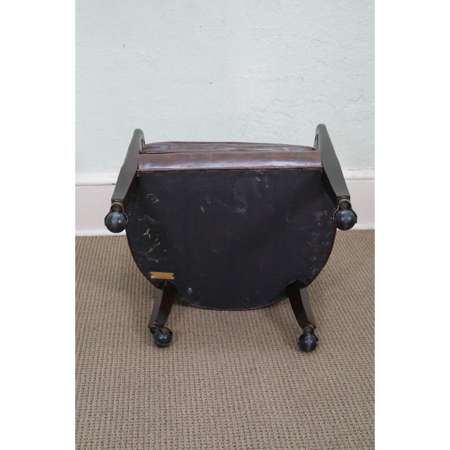Widdicomb Small Barrel Back Leather Club Chair - Image 8 of 10