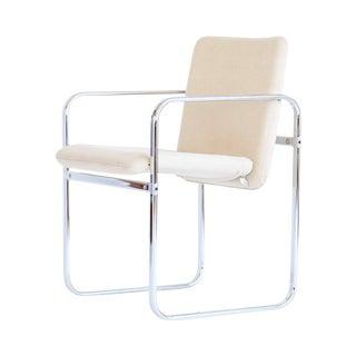 Italian Modernist Chrome Armchair