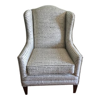 French Laundry Wing Back Chair
