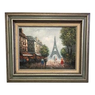 Henry Rogers Vibrant Parisian Street Scene Painting