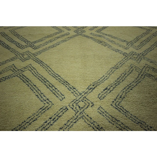 Diamond Moroccan Hand Knotted Rug - 10' x 13' - Image 8 of 10
