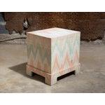 Image of Pastel Geometric Wooden Storage Box