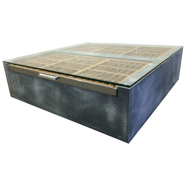 Faux Concrete Type Tray Coffee Table - Image 1 of 4