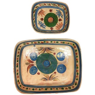 Vintage Mexican Rectangular Platters - A Pair