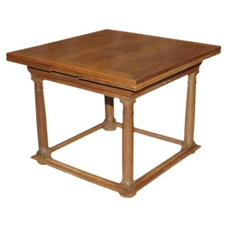 Italian 18th C. Walnut Draw Leaf Table