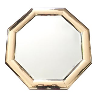 Vintage Gold Octagonal Wall Mirror