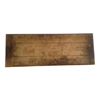 Rustic German Cigar Mold