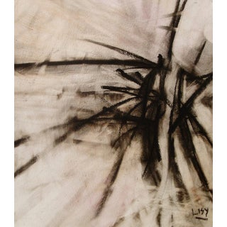 """Don Lisy """"Cabin Fever"""" Abstract Charcoal Drawing"""