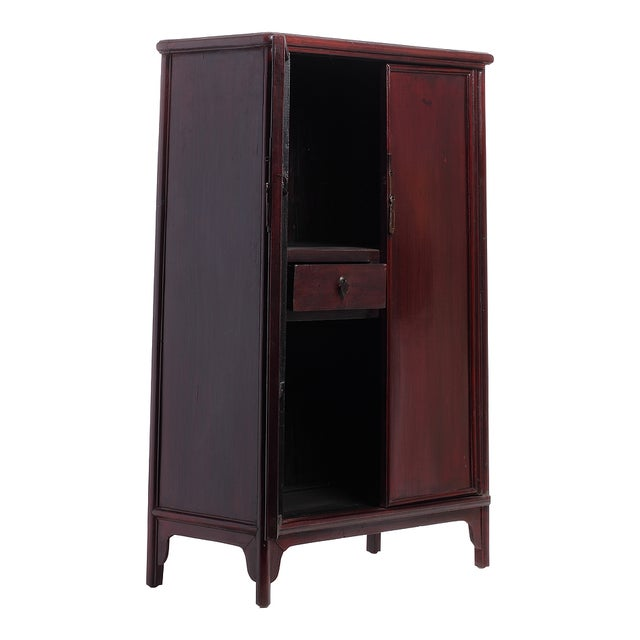 Antique Elmwood Small Chinese Cabinets - Pair - Image 3 of 6