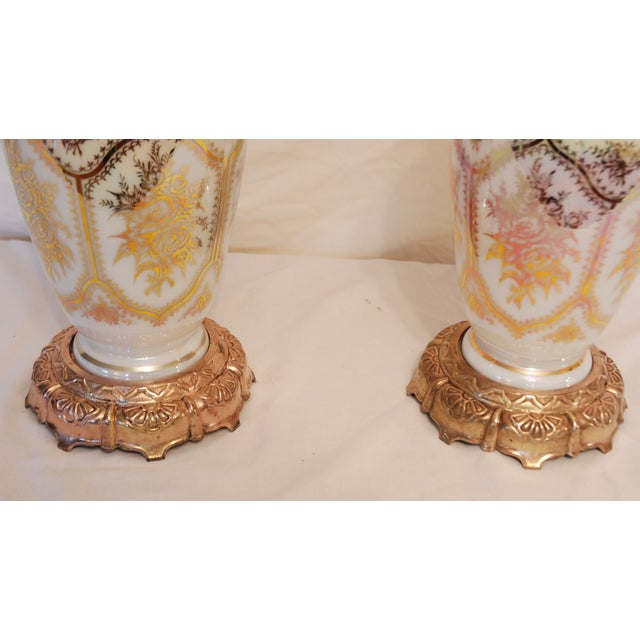 Image of Vintage Glass Ginger Jar Lamps - A Pair