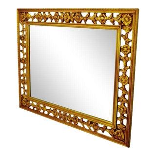 Gold Gilt Pierced Wall Mirror