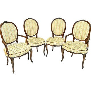 French Louis XV-Style Dining Chairs - Set of 4