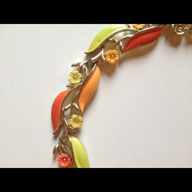 Image of Colorful Floral Lisner Choker Necklace