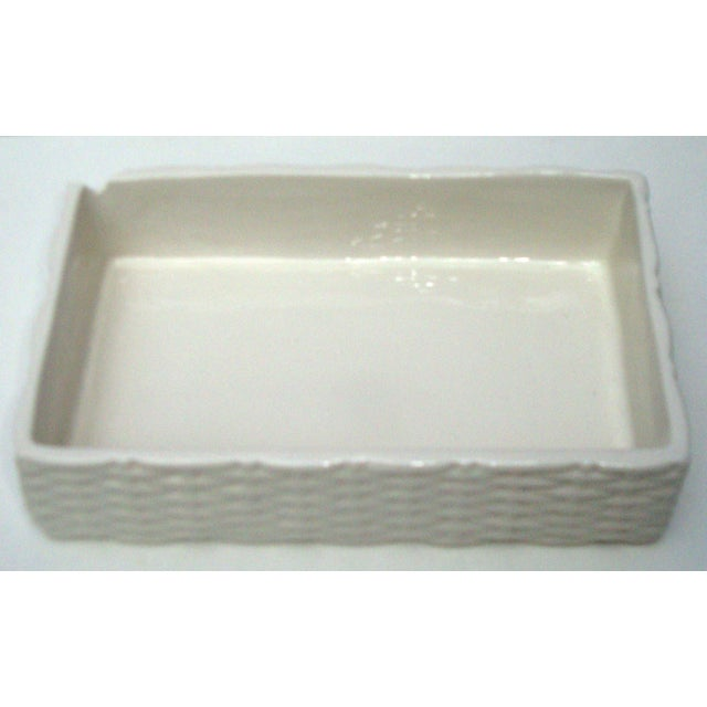 Italian Porcelain Ceramic Wicker Frog Box - Image 10 of 11