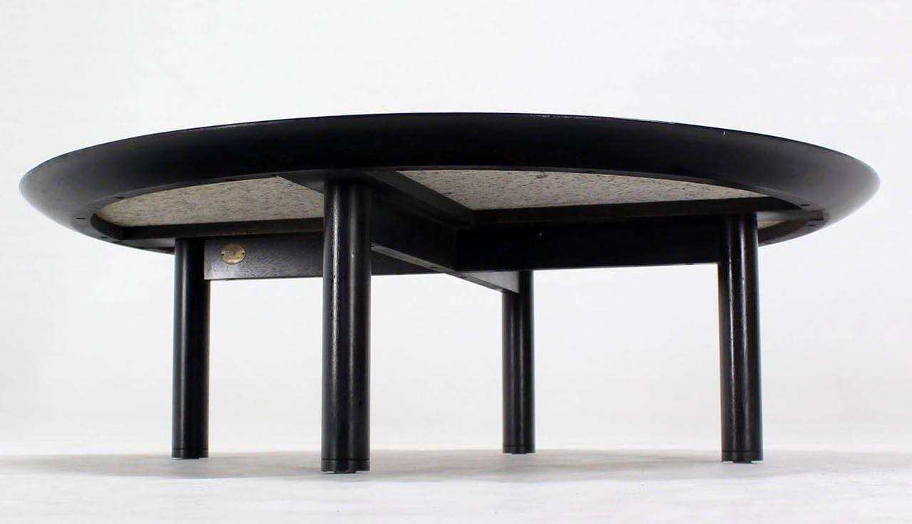 Incredible 48 Inches Round MidCentury Modern Coffee Table by