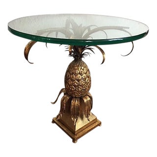 Italian Gilt Tole Pineapple Table