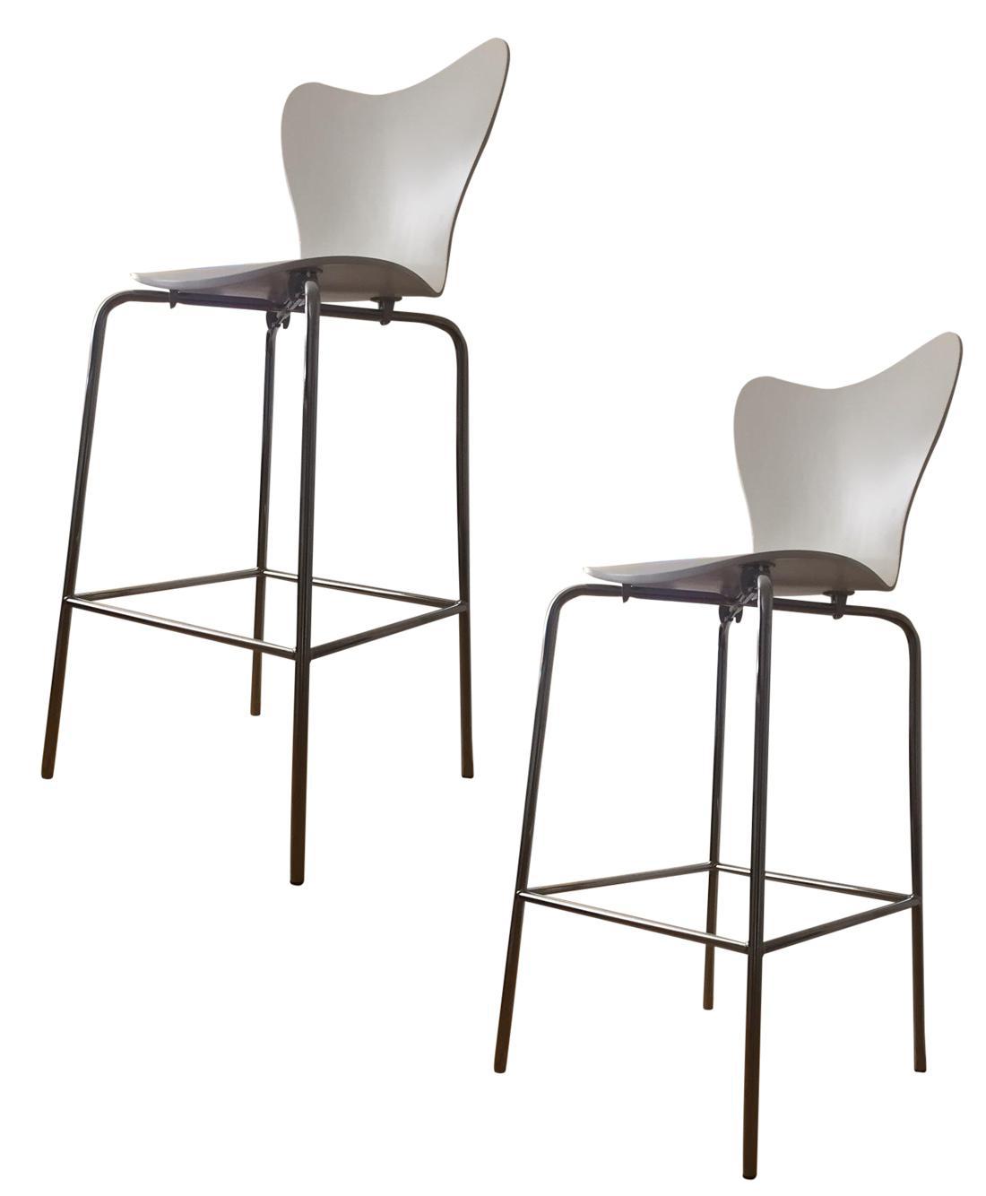 west elm white bar stools a pair