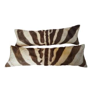 Natural Zebra Lumbar Pillows - A Pair