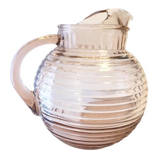 Manhattan Pink Depression Glass Pitcher