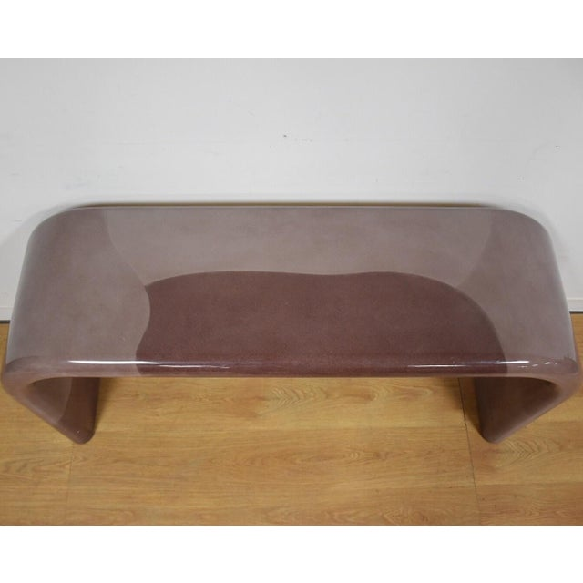 Karl Springer Style Modern Console Table - Image 6 of 10