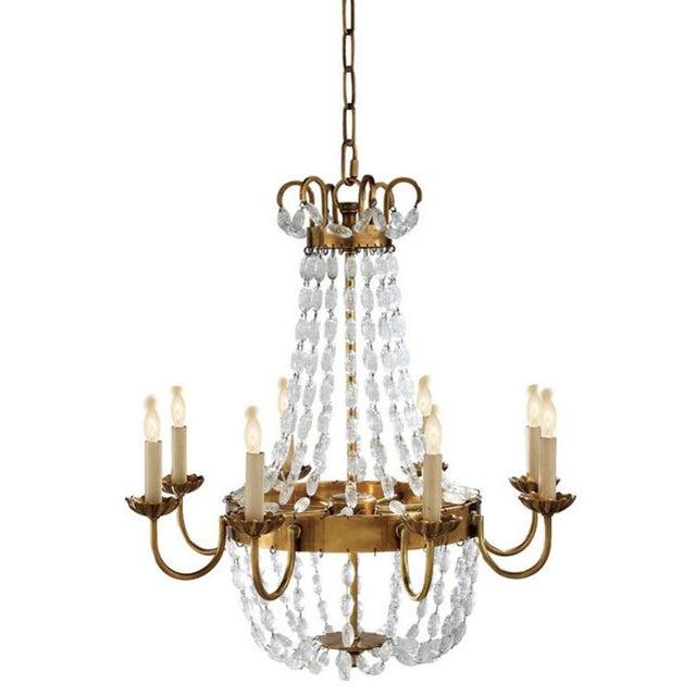 Visual Comfort Brass Chandelier - Image 1 of 7