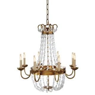 Visual Comfort Brass Chandelier
