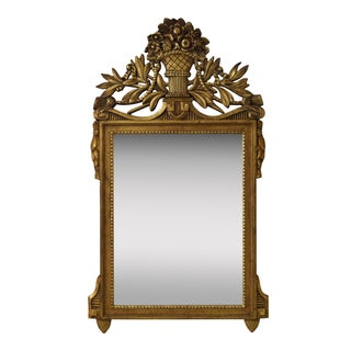 Vintage French Louis XV Carved Gilt Wood Mirror