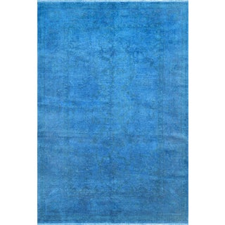 """Blue Over-Dyed Rug - 6'1"""" X 8'11"""""""