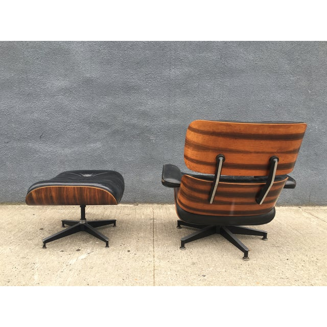 Eames Lounge Chair & Ottoman in Brazilian Rosewood - Image 3 of 10