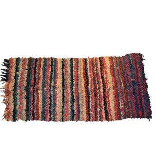 """Vintage Boucherouite Carpet - 6'6"""" X 3'2"""""""