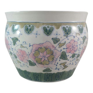Chinoiserie Style Floral Planter