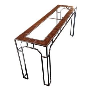 Burlwood Milo Baughman Console Table