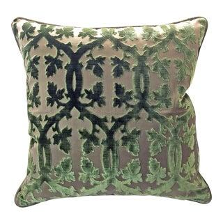 Scalamandre Falk Manor House Cut Velvet Pillow