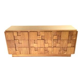 Oak Patchwork Front Dresser