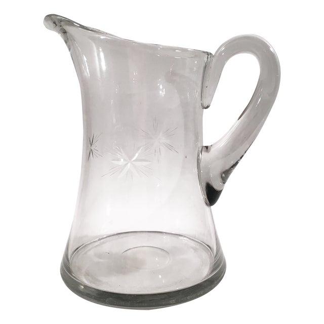 Vintage glass starburst pitcher chairish - Starburst glassware ...