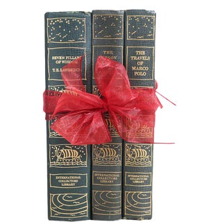 Vintage Book Gift Set: Classic World Adventures - Set of 3