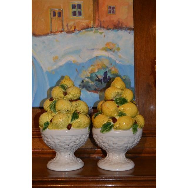 Mid Century Italian Majolica Lemon Topiary - Image 9 of 11