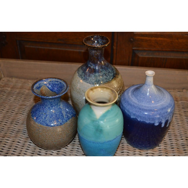 Collection of Drip Glazed Ceramic Vases - Set of 4 - Image 4 of 9