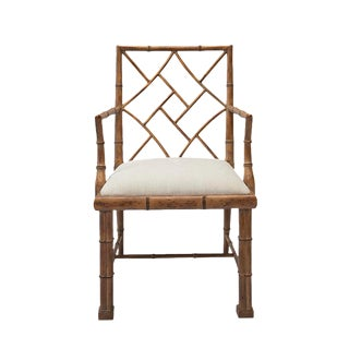 1970's Chinoiserie Chippendale Bamboo Side Chair
