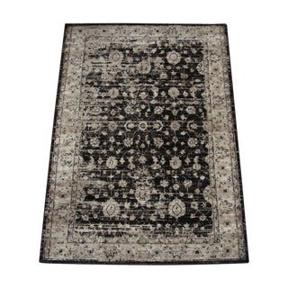 Vintage Distressed Brown Rug -- 5'3''X 7'7''